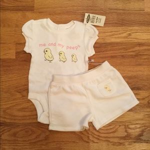 Me and My Peeps Old Navy Baby Outfit 3-6 Month